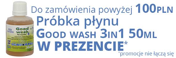 Próbka płynu Good wash 3in1 w prezencie